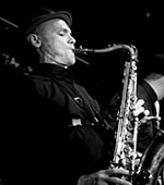Andy Hills  Tenor Sax - punk to funk, gypsy to swing, circus and Big Bands since his time studying at the Lismore Conservatorium Arts Center