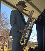 Steve  Sax Baritone Sax with the WellSwung Daddies.